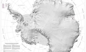 Antartikako mapa bereizmen handian