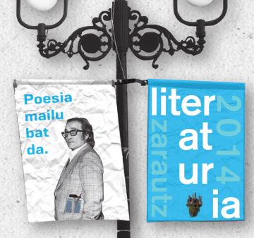 Literaturia 2014 Zarautzen, maiatzaren 28tik ekainaren 1era