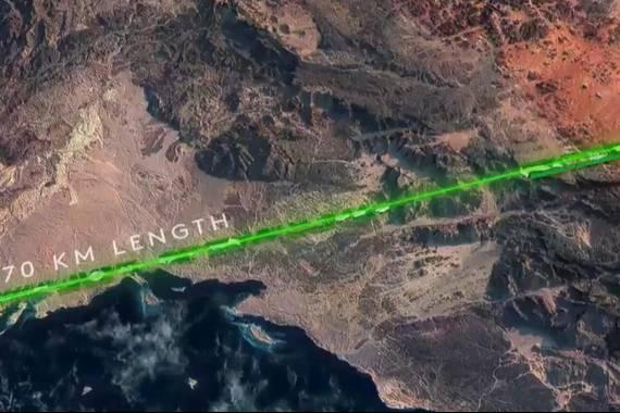 The Line edo Lerroa, 170 km luze izango omen den hiri futurista
