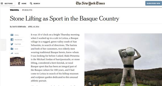 Harrijasotzaileez erreportaia The New York Times-en