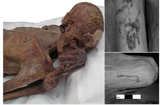 Duela 5.200 urteko tatuajeak aurkitu dituzte momia egipziar batzuetan