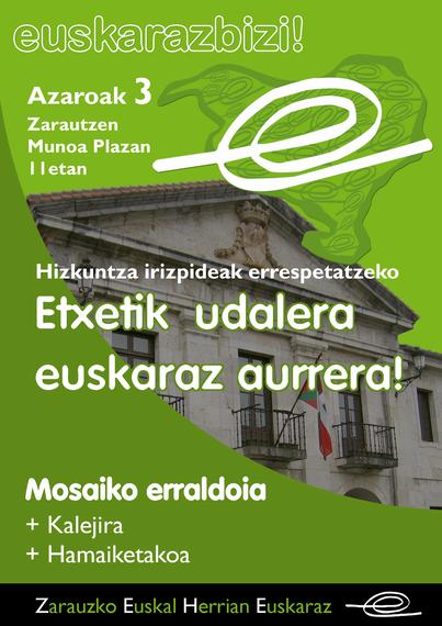 Mosaiko erraldoia: Etxetik udalera, euskaraz aurrera!!