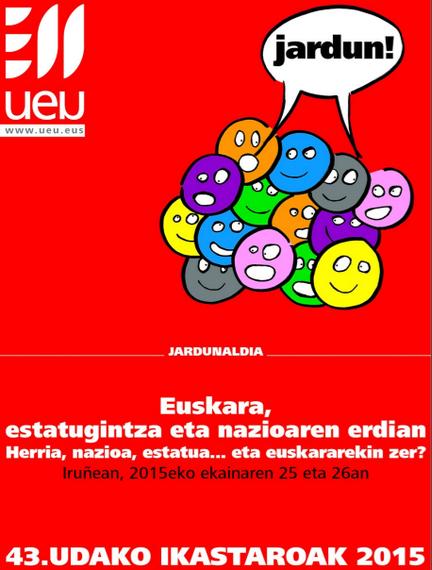"""""""Euskara, estatugintza eta naziogintzaren erdian"""" #EuskaraEN"""