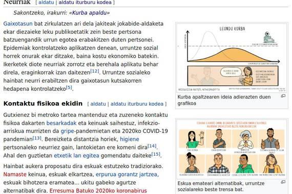 Wikipedian pandemiari buruzko artikulu sorta osatu dute 'maratoi' batean