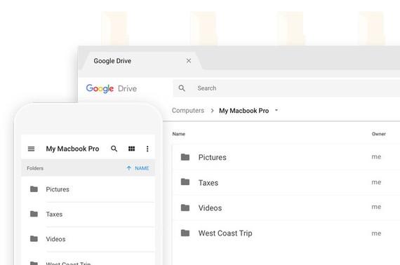 Googleren zerbitzu berria gaurtik: zure ordenagailuaren babes-kopia egiteko aukera Driven