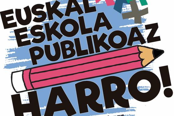"""""""Euskal Eskola Publikoaz harro"""", mobilizazioa eta manifestua"""