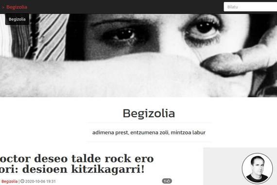 Mikel Asurmendi kazetariaren blog berria, Begizolia