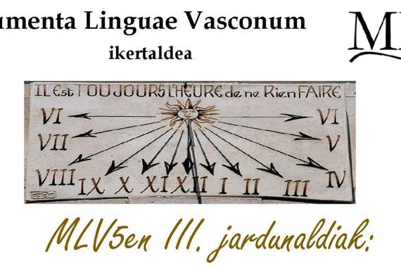 MLV ikertaldearen 3. hizkuntzalaritza jardunaldia