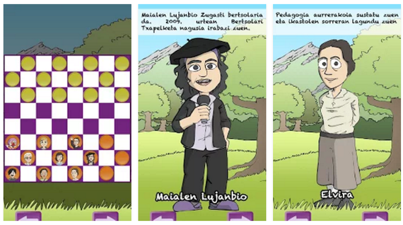 """""""Euskal Herriko Damak"""" aplikazio eta jokoa"""