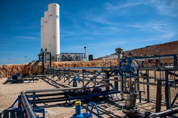 CO2a lurpean gordetzeari ekin diote Espainian