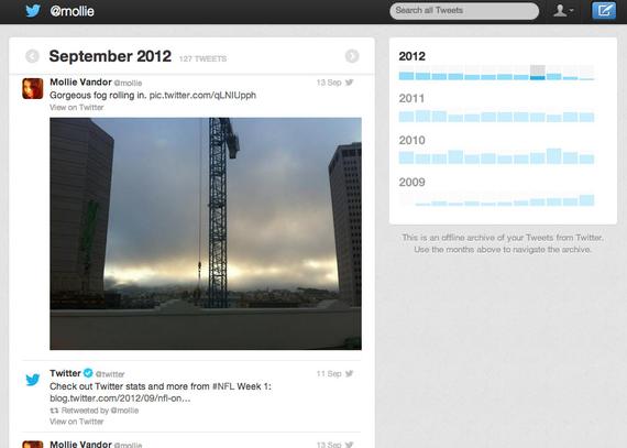 Twitter: Zure tuit guztiak jaisteko aukera
