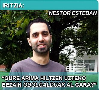 """Nestor Esteban (EHE): """"Euskara ez dago agenda politikoan"""""""