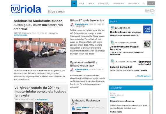 Uriola.info, Bilbo inguruko albisteak batuko dituen web gune berria