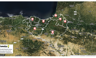 Euskal probintzien erdigune geografikoa