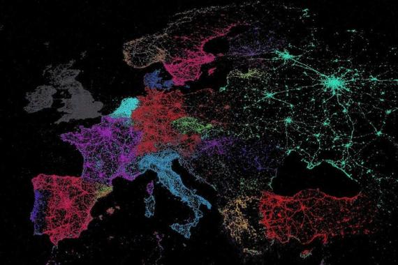 Euskararik gabeko txio-mapa zahar bat, eta gaurko Twitterreko egoera benetakoa