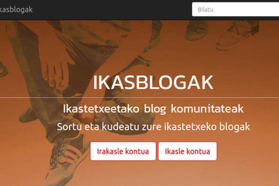 Ikasblogak, ikastetxeetarako blog komunitate euskaldunak sortzeko tresna