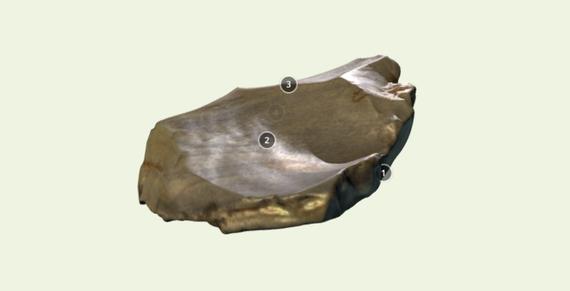 Aztarna paleolitikoak Sketchfab 3D biltegi digitalean