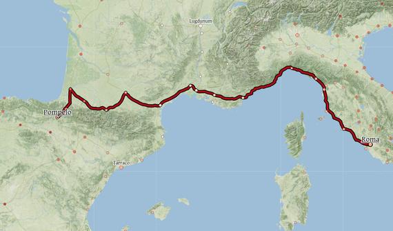 Orbis, Erroma inperialeko mapa interaktiboa