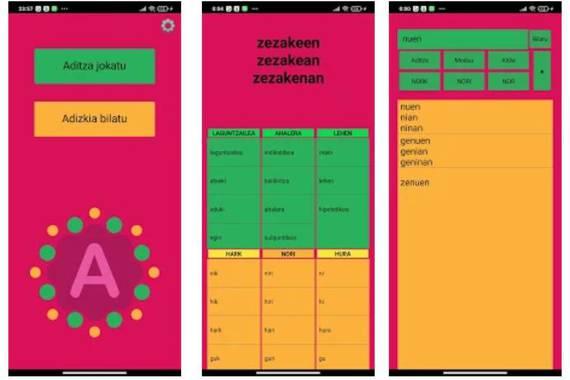Adizkinator, euskal aditza ezagutzeko aplikazioa