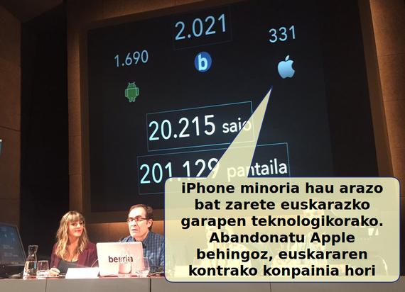 iPhone gutxi, baina gehiegi dira