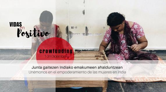 Indiako emakume HIESdunen aldeko ikasle batzuen crowdfunding-a