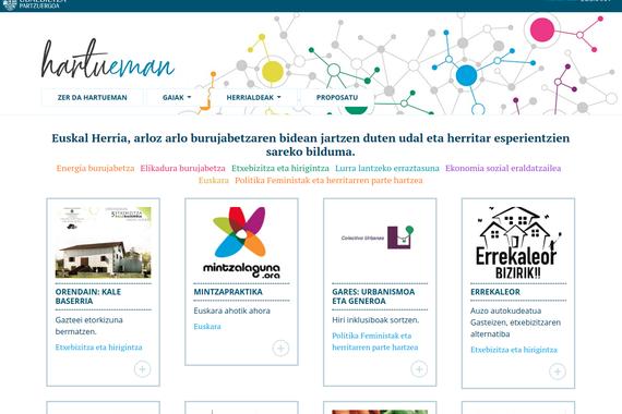 Hartueman, Euskal Herriko 'esperientzien bankua', Udalbiltzaren eskutik
