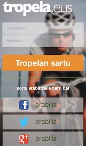 Tropela app, mugikorretarako prest