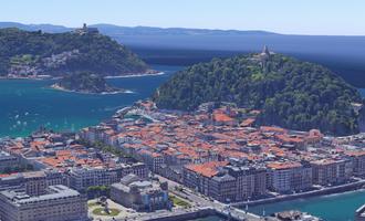 Google maps 3d bistak euskal herrian - Donostia 01