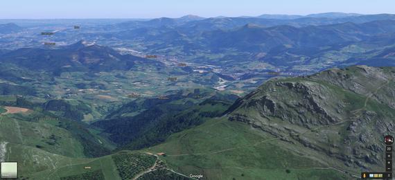 Googlek 3D bistak txertatu ditu bere mapetan, tartean Euskal Herrikoak
