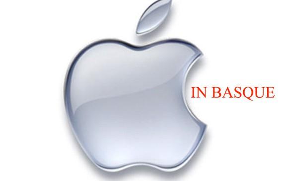Apple euskaraz, eskaera bat Change-Org-en