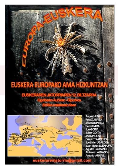 """""""Euskera Europako ama hizkuntzan"""" jardunaldia maiatzaren 5ean Elgoibarren"""