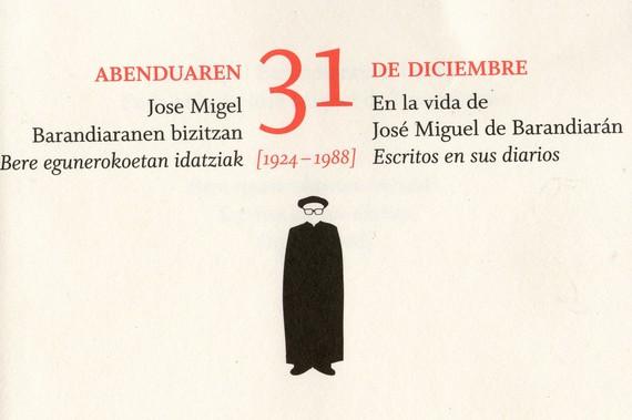 Jose Migel Barandiaranen urtebetetze egunak liburu berri batetan