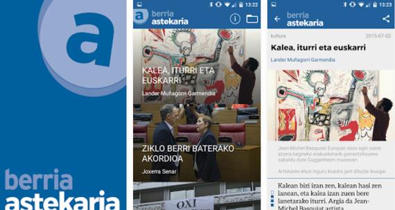 Berria Astekaria aplikazio mugikorra