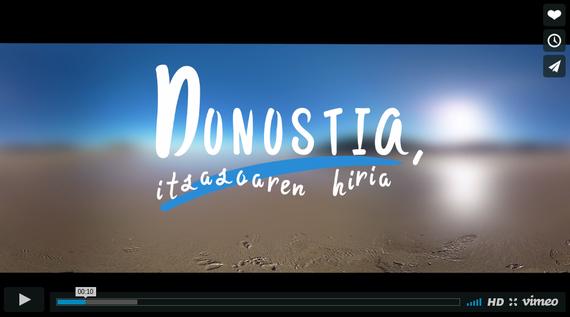 """""""Donostia, itsasoaren hiria"""", 360º-ko irudiekin osatutako ikusentzunezkoa"""