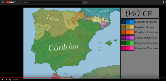 Historia, mapa eta bideo bidez azaldua