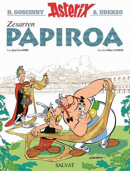 """""""Zesarren papiroa"""", Asterixen album berria gaur kalean euskaraz"""
