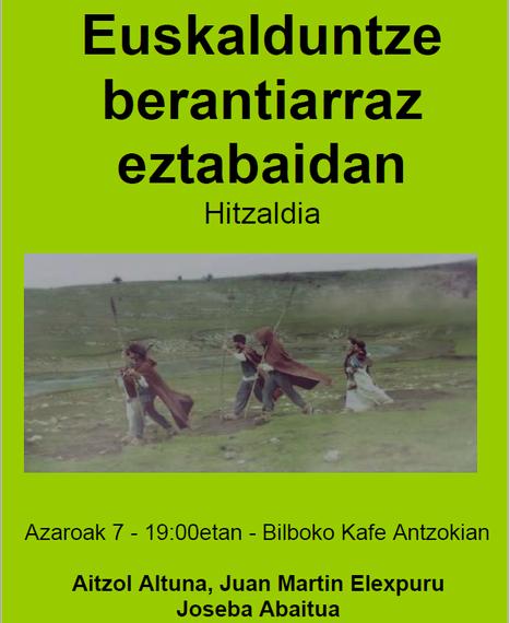 'Euskalduntze berantiarraz eztabaidan' datorren astelehenean, azaroak 7, Bilboko Kafe Antzokian