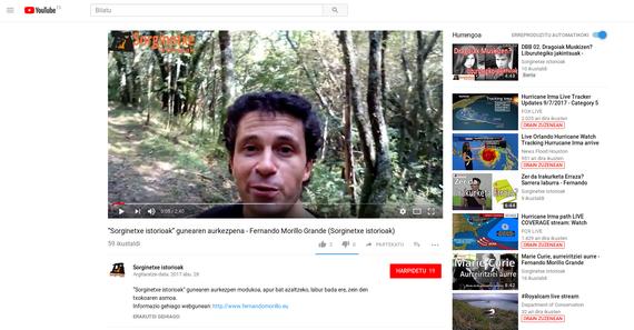 """Fernando Morillo youtuberra """"sorginetxe"""""""