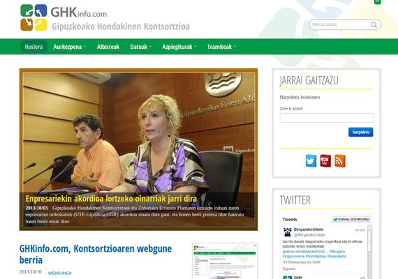 GHKinfo.com, Gipuzkoako Hondakinen Kontsortzioaren webgune berria