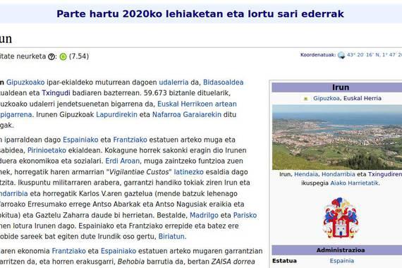 Irun dezagun sarea: Wikipediako artikuluen lehiaketa