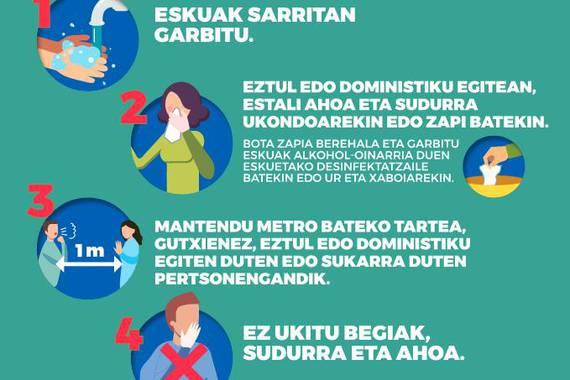 Koronabirusa: Eskolen itxiera EAEn, eta aholkuen eguneratzea