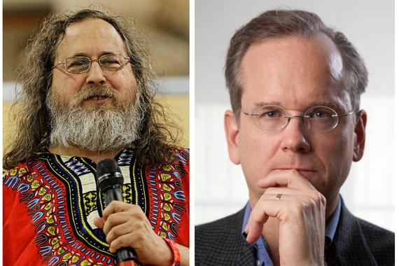 Stallman eta Lessig: ideia libertario labainkorrak