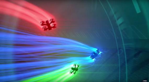 Drone lasterketak gero eta hedatuago, irudi koloretsuak uzten dizkigute