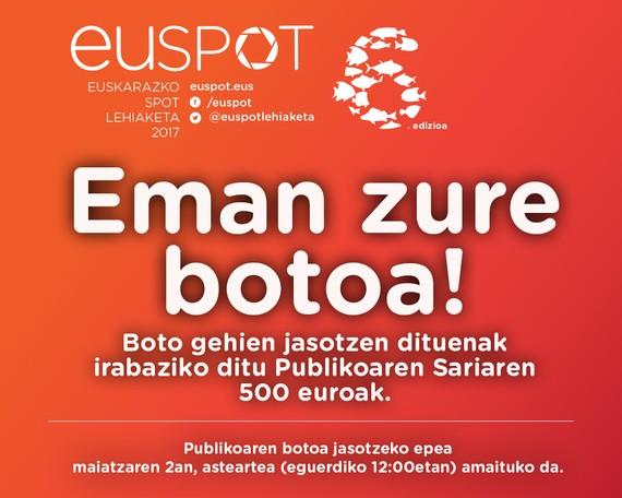 Euspot lehiaketako publikoaren saria martxan da!