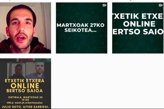 """""""Etxetik etxera"""" bertso-saioak online"""
