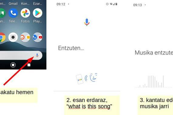 Kantu bilaketa Android telefonoetan, halamoduzkoa