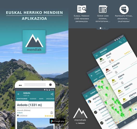 Mendiak, Euskal Herriko mendien APPa