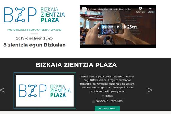 Bizkaia Zientzia Plaza 2019, zientzia dibulgazioaren jaialdia