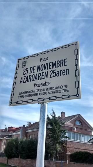 Iruñeko Udalak errekurtsoa jarrita dauka pasealeku baten izena berriz ere gaztelania hutsean paratzeko.