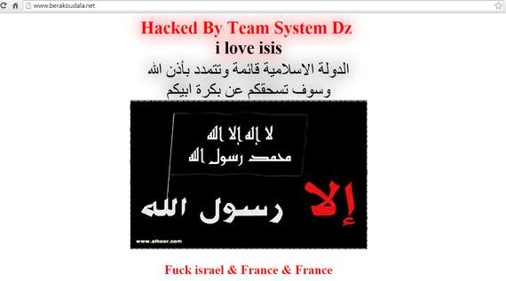 Nafarroako hainbat udal webgune hackeatuta: 'I love ISIS' mezuak portadan